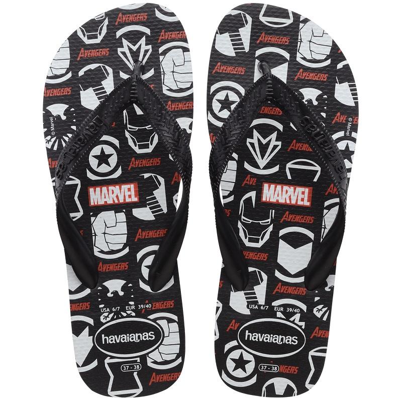 Chinelo Havaianas Top Marvel Homem-Aranha - Preto