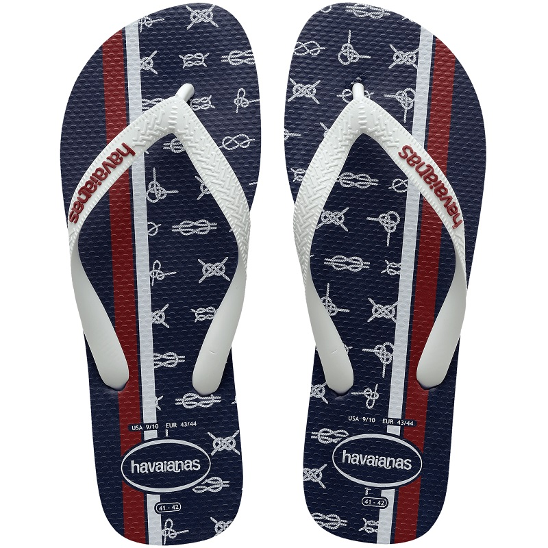Chinelo Havaianas Top Nautical - Azul e Branco