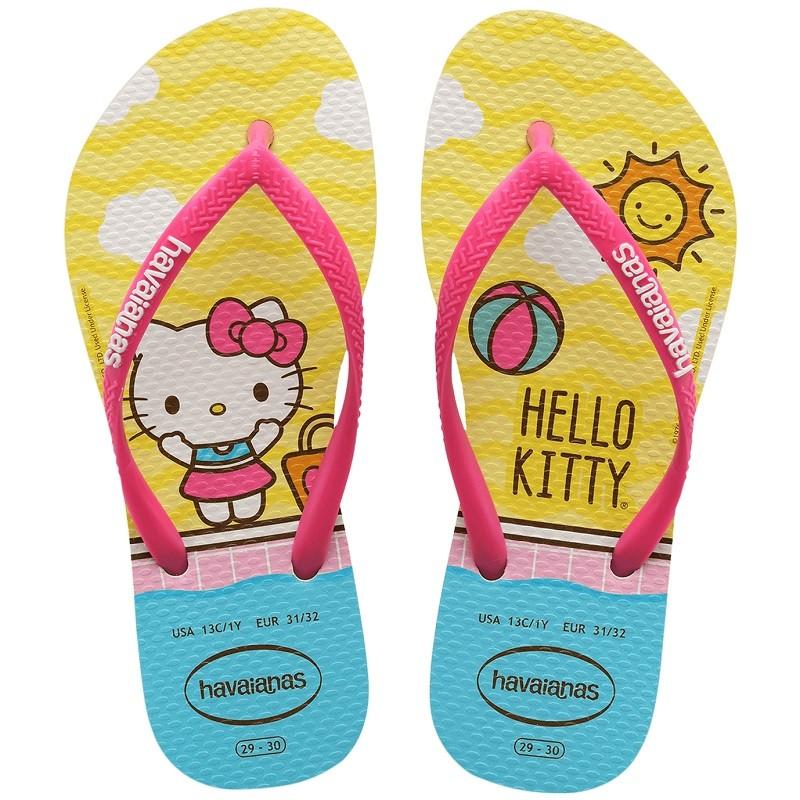 Chinelo Kids Slim Hello Kitty - Amarelo