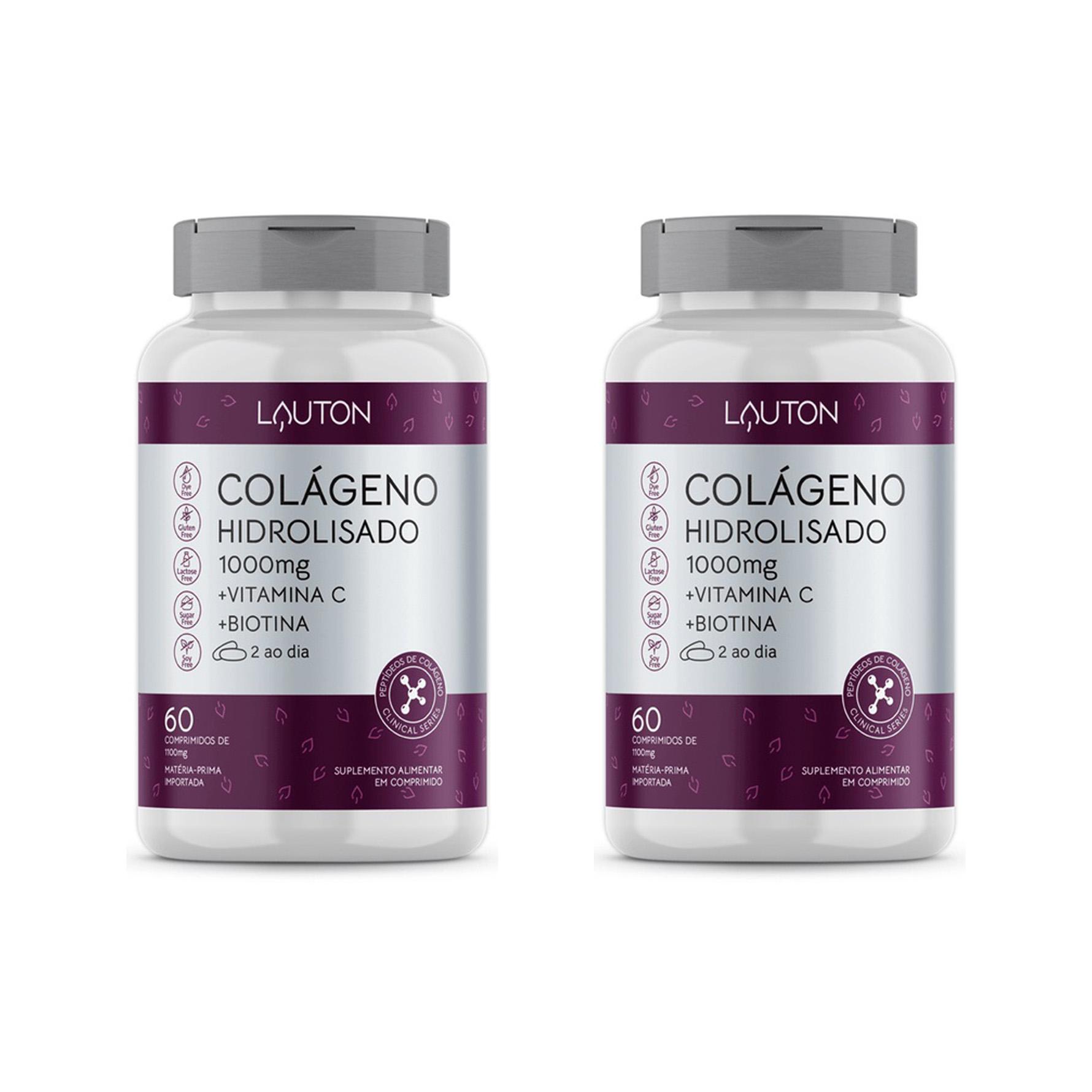 Colágeno Hidrolisado 1000mg - 60 Comprimidos - Lauton Nutrition (2 Unidades)