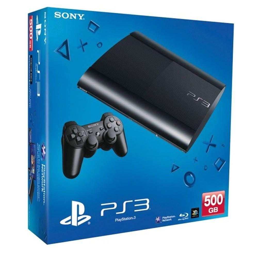 Console Playstation 3 Ultra Slim 500gb Com 70 Jogos