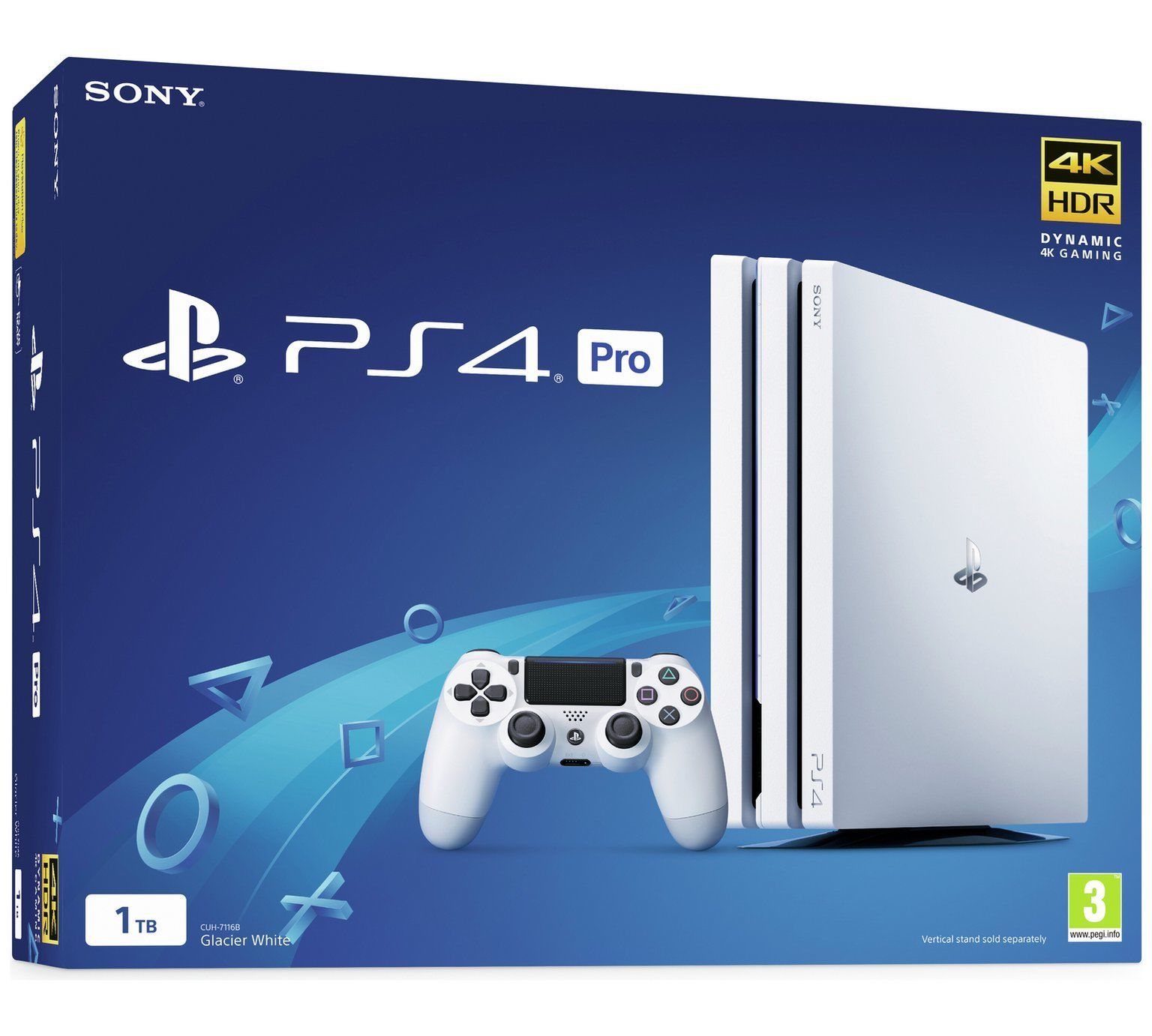 Console Playstation 4 Pro 4K - 1 Terabyte - Branco (2 Controles)