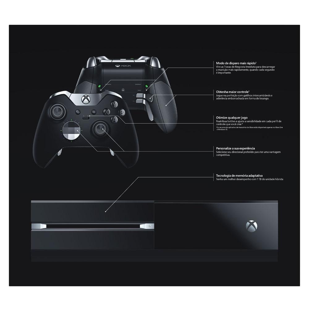 Console Xbox One 1TB com Controle Elite - Preto (2 Controles)