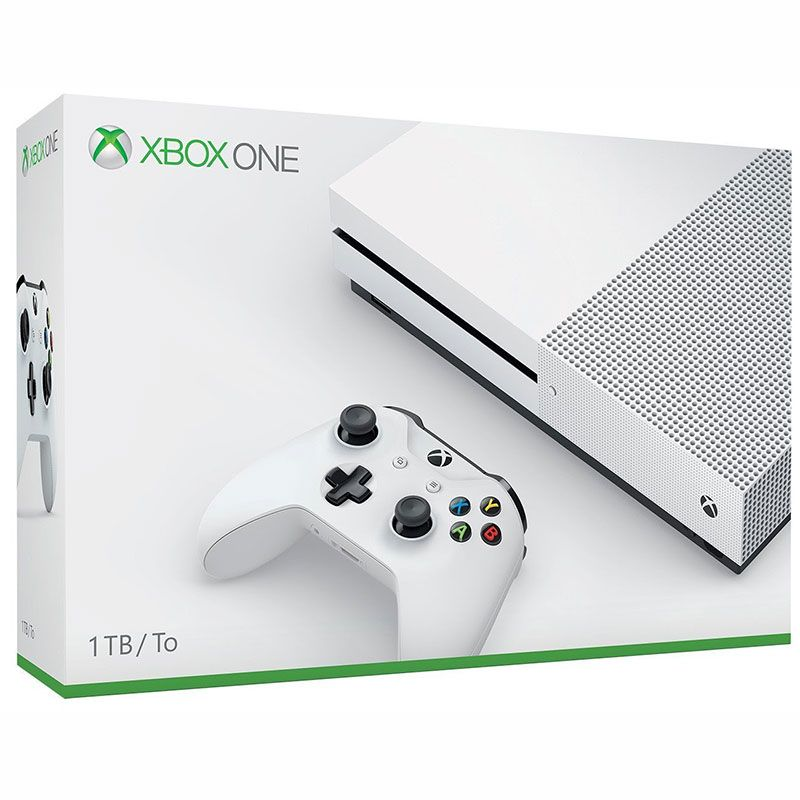 Console Xbox One S - 1 Terabyte + HDR + 4K Streaming (2 Controles)