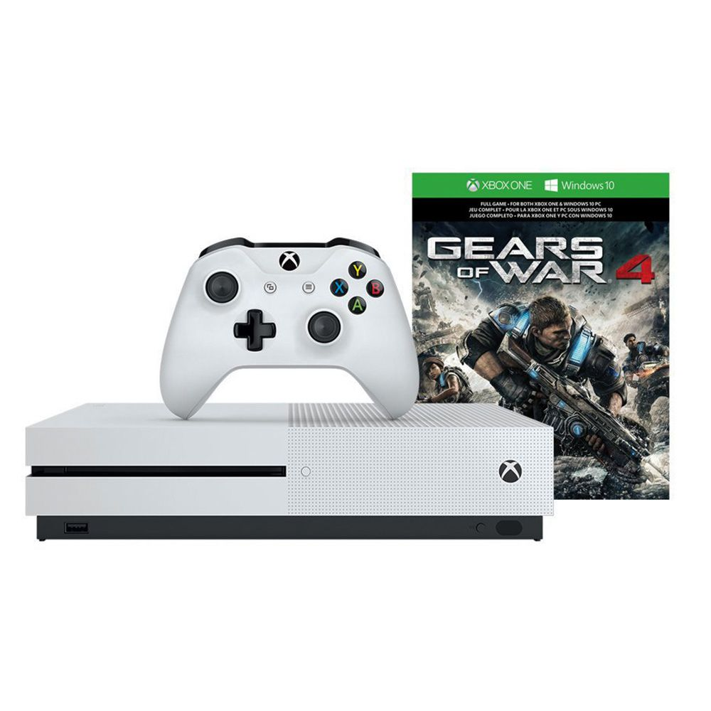 Console Xbox One S - 1 Terabyte + HDR + 4K Streaming + Jogo Gears of War 4