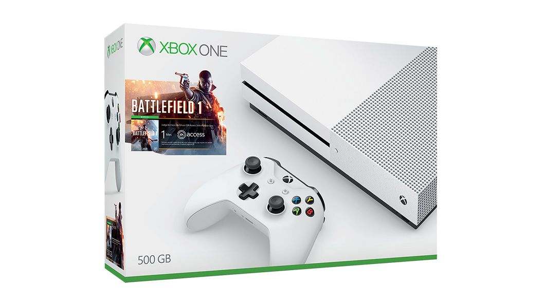 Console Xbox One S - 500 Gb + HDR + 4K Streaming + Jogo Battlefield 1