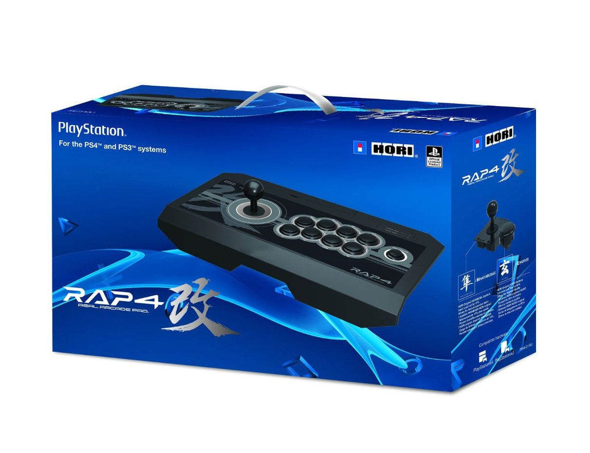 Controle Arcade Hori Rap 4 Real Arcade Pro 4 Kai Ps4/ps3/pc - Preto