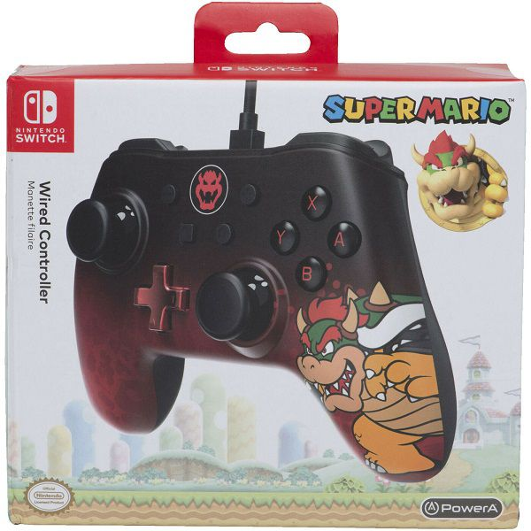 Controle Com Fio USB Bowser Power A - Switch / PC