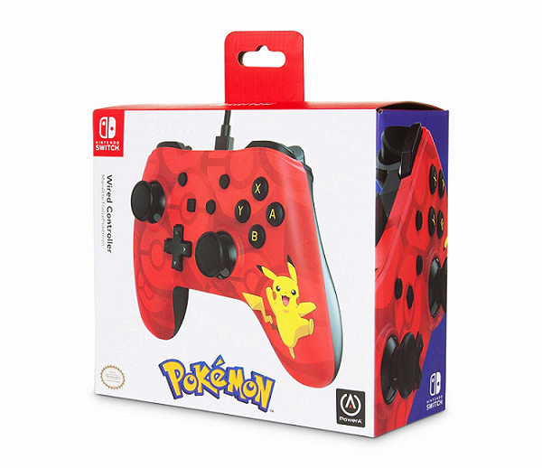 Controle Com Fio USB Pikachu Power A - Switch / PC