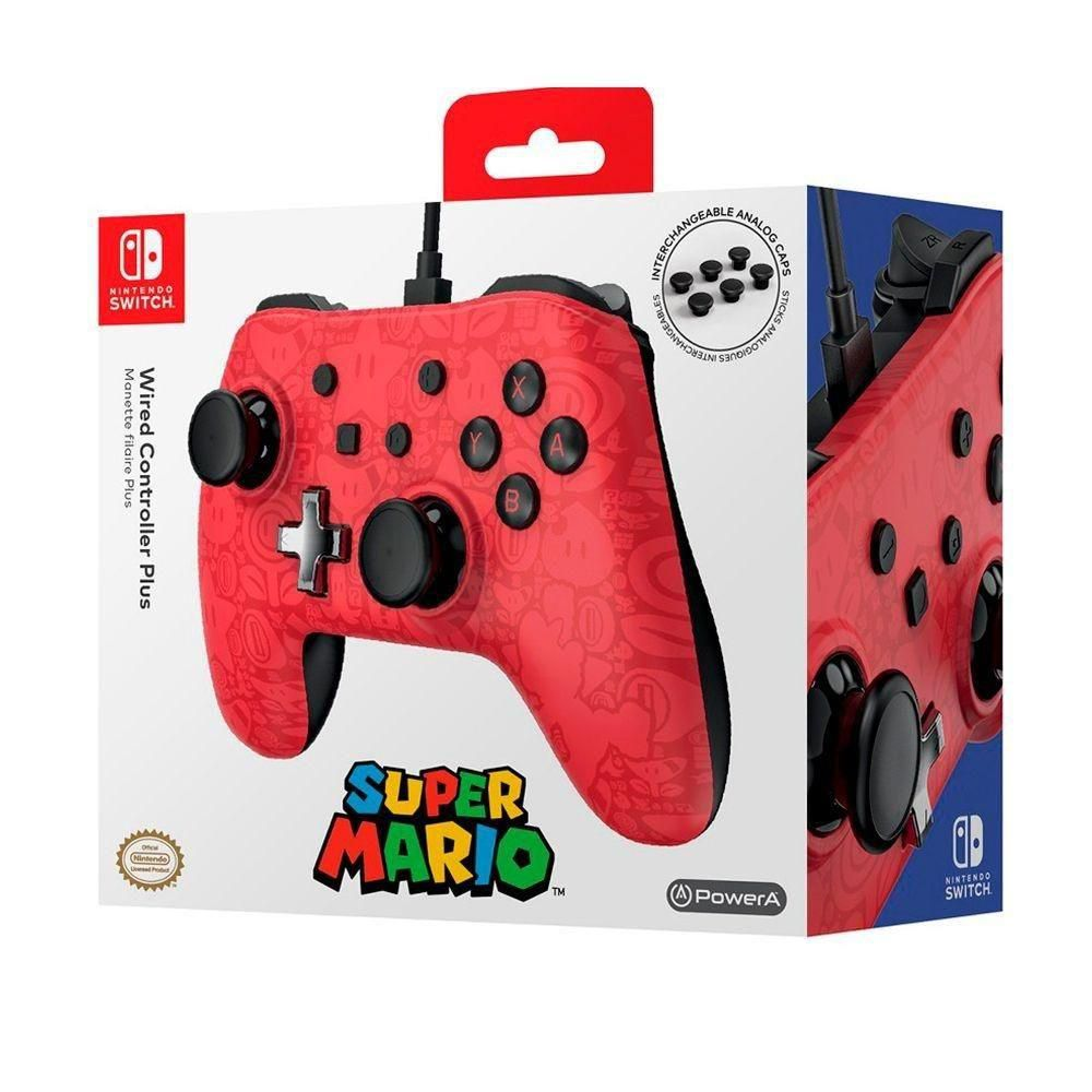 Controle Com Fio USB Plus Super Mario Power A - Switch / PC