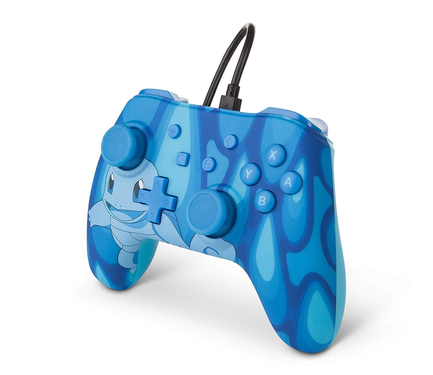 Controle Com Fio USB Pokemon Squirtle Power A - Switch / PC