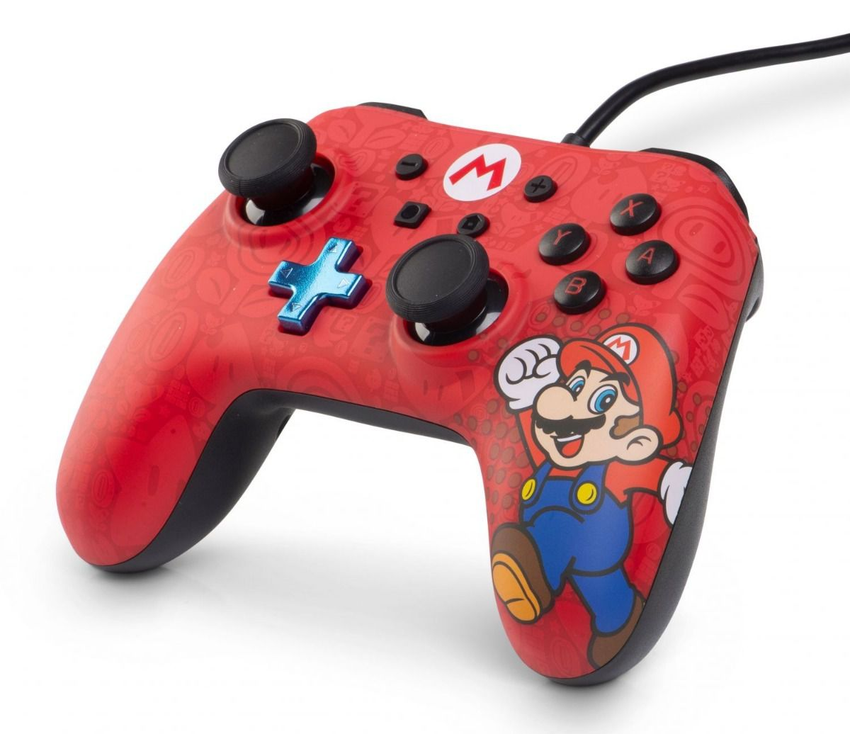 Controle Com Fio USB Super Mario Power A - Switch / PC