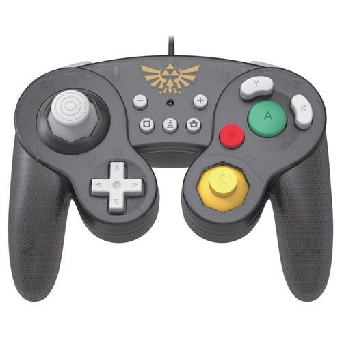 Controle Com Fio USB Wired Fight Pad Zelda Hori - Switch / PC