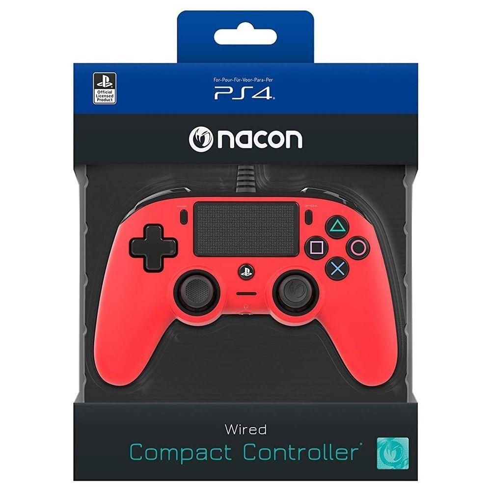 Controle Nacon com Fio - Ps4 (Vermelho)