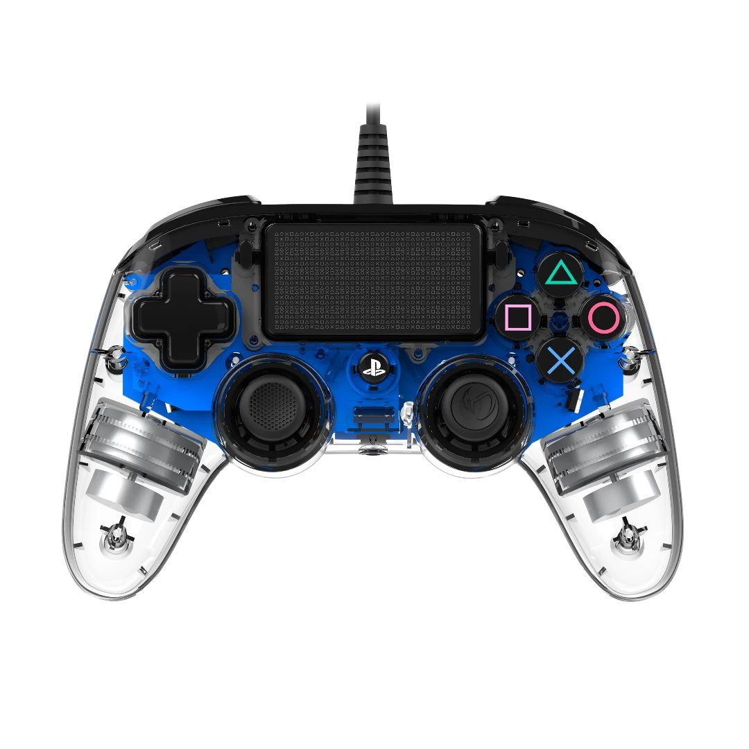 Controle Nacon com Fio Transparente - Ps4 (LED Azul)