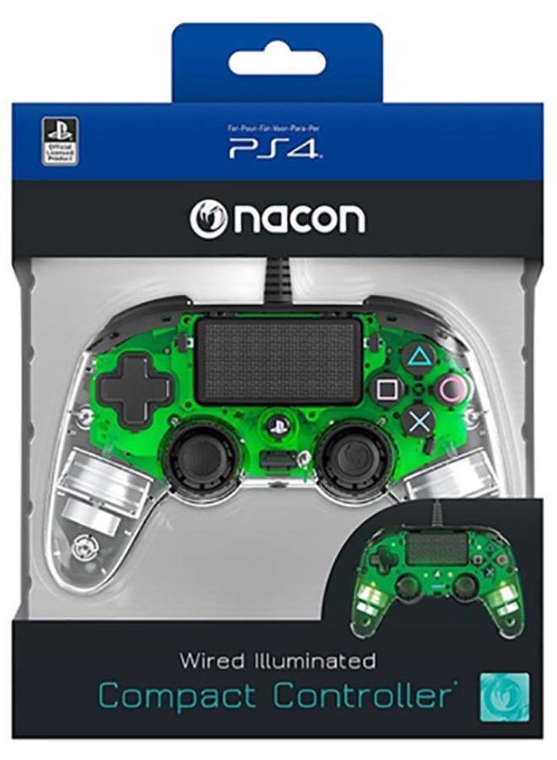Controle Nacon com Fio Transparente - Ps4 (LED Verde)