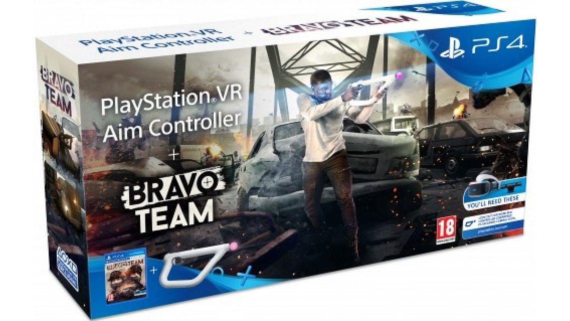 Controle Playstation VR Aim (Pistola) + Jogo Bravo Team - Ps4