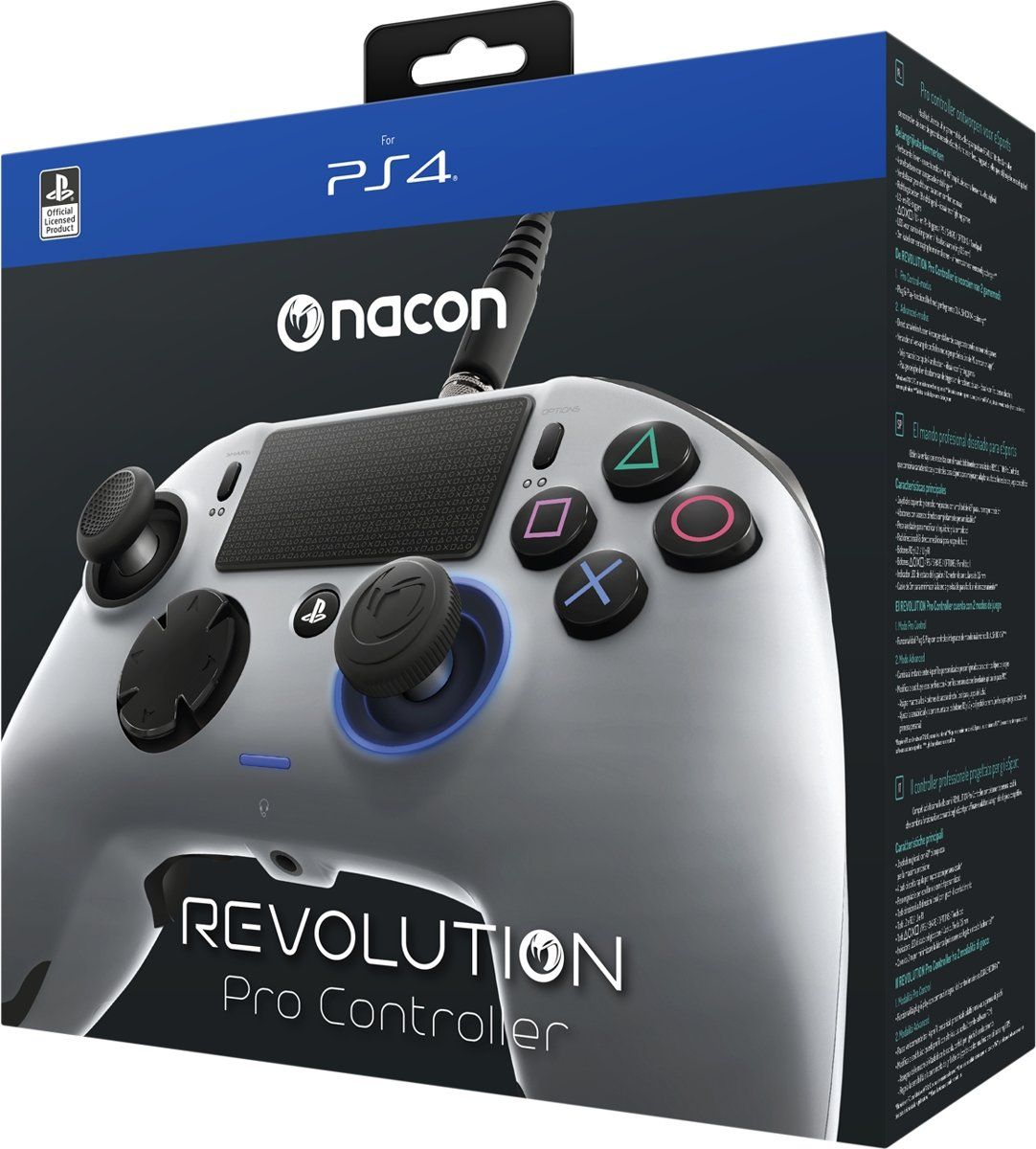 Controle Revolution Pro Nacon Ps4 - Cinza