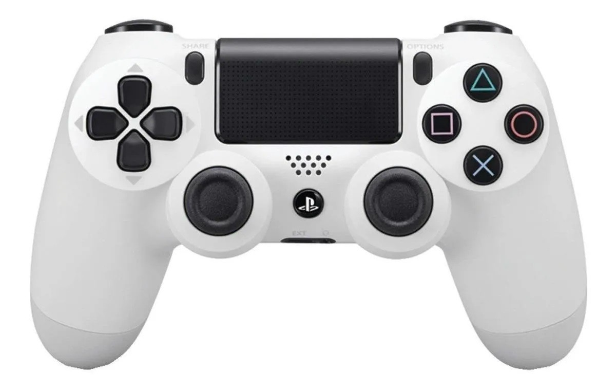Controle Sem Fio Dualshock Ps4 - Branco