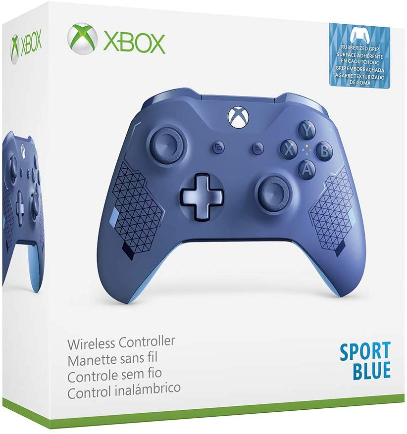 Controle sem Fio para Xbox One S - Azul Sport