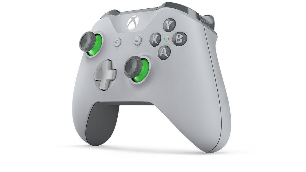Controle sem Fio para Xbox One S - Cinza e Verde