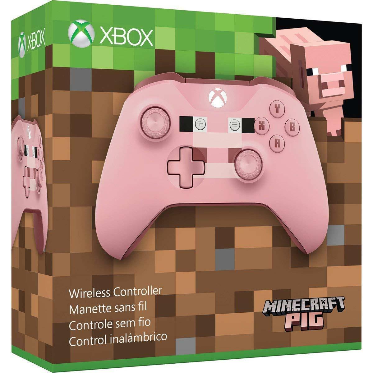 Controle sem Fio para Xbox One S - Minecraft PIG