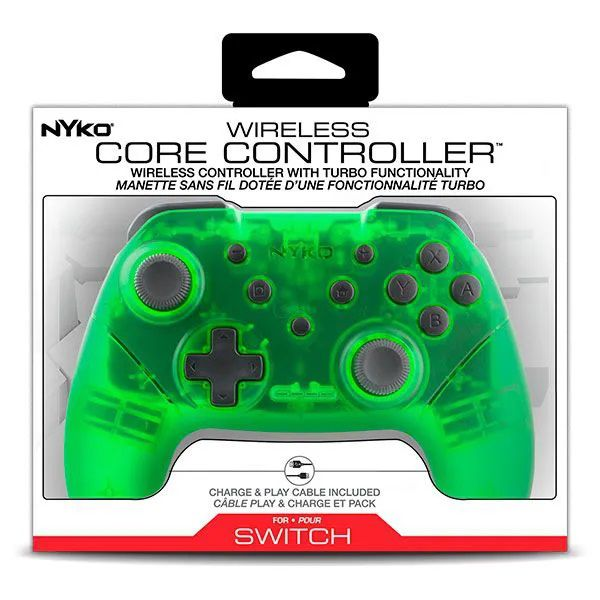 Controle Wireless Core Turbo Nyko - Nintendo Switch (Verde)