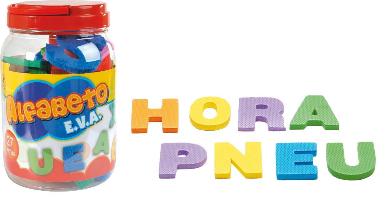 Pote Educativo com Alfabeto em EVA  - Nig Brinquedos