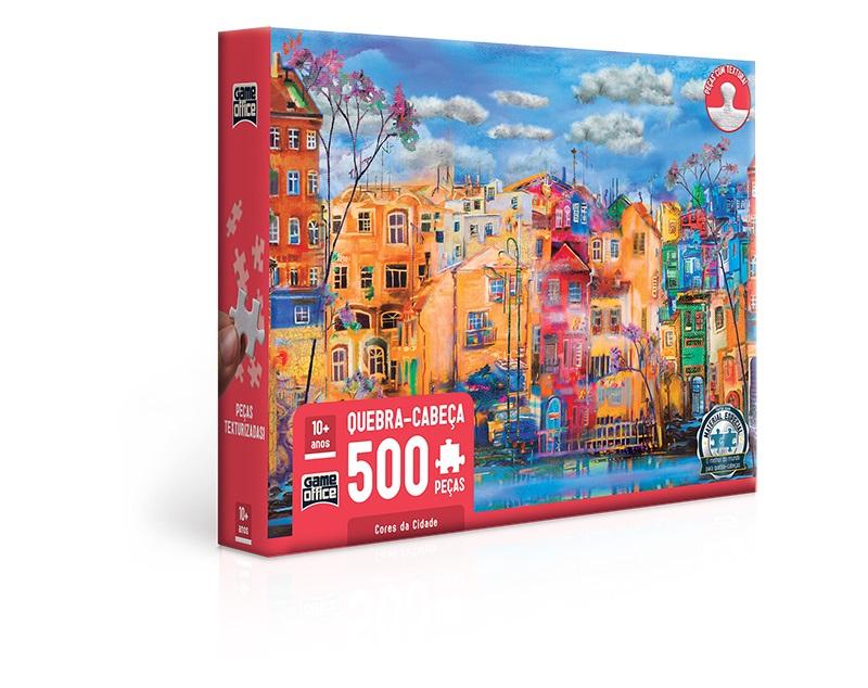 Cores da Cidade  Quebra-cabeça  500 peças