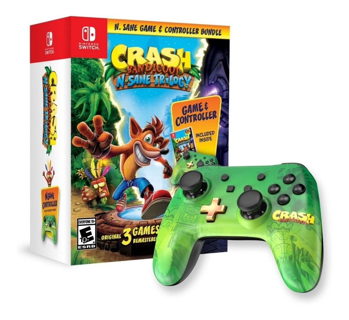 Crash Bandicoot: N. Sane Trilogy & Controller Bundle - Nintendo Switch