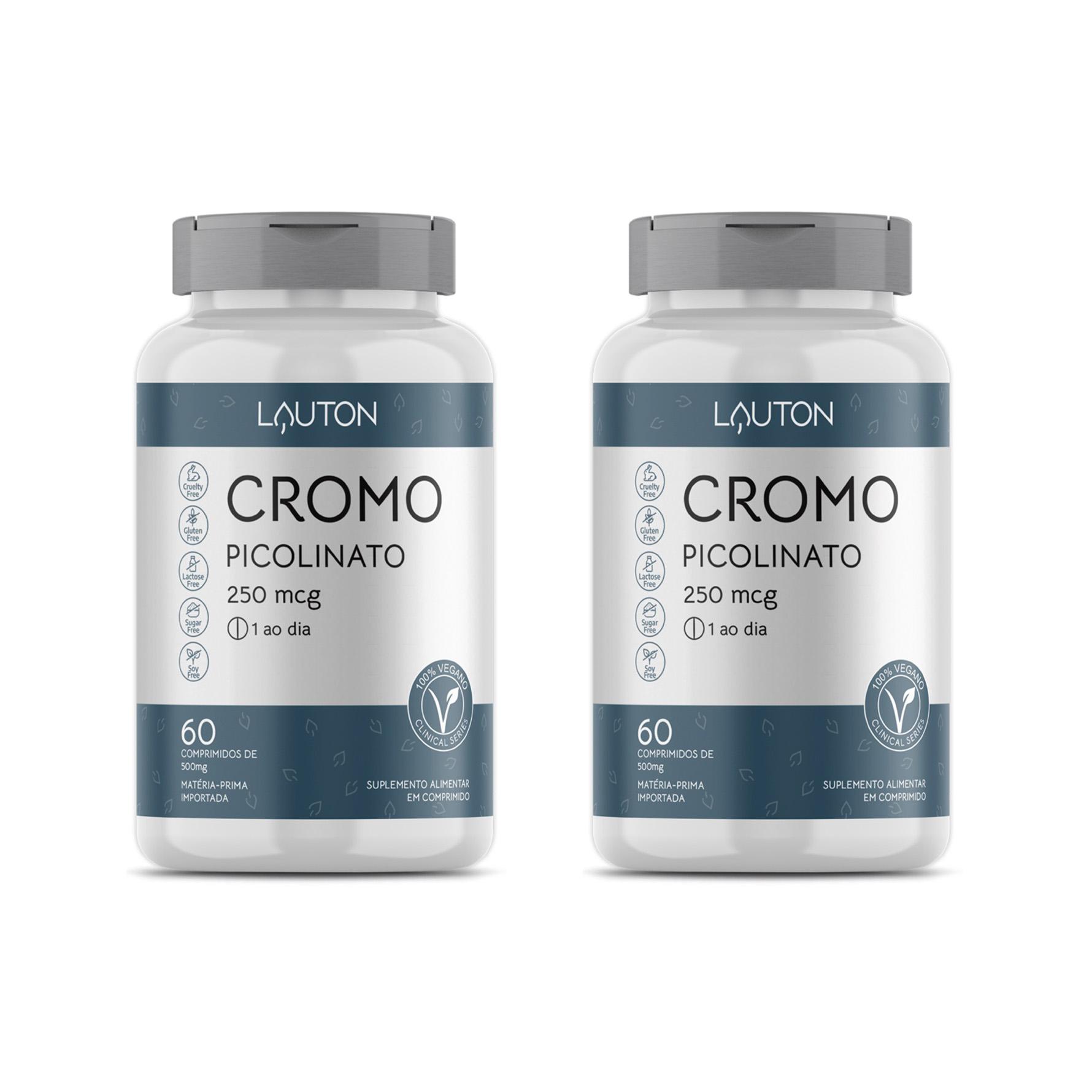 Cromo Picolinato 250mcg - 60 Comprimidos - Lauton Nutrition (2 Unidades)