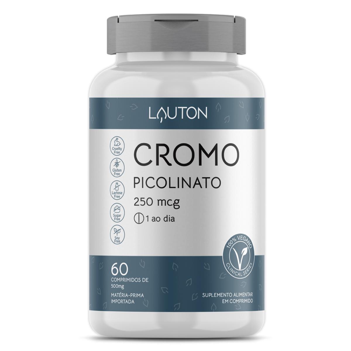 Cromo Picolinato 250mcg - 60 Comprimidos - Lauton Nutrition
