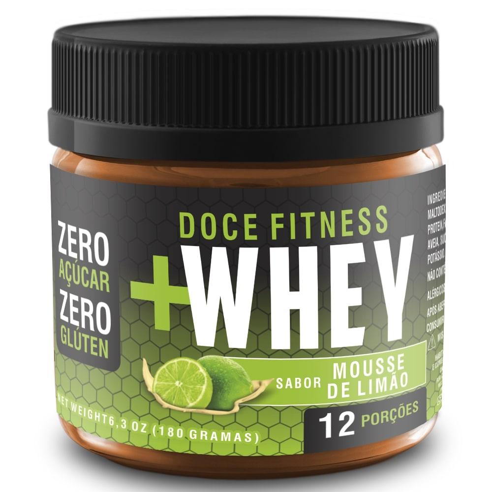 Doce Fitness +Whey - Sabor Mousse de Limão (Zero Açúcar)