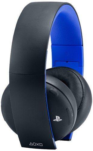 Gold Wireless Stereo Headset Sony 7.1 - Ps3 / Ps4 / PsVita