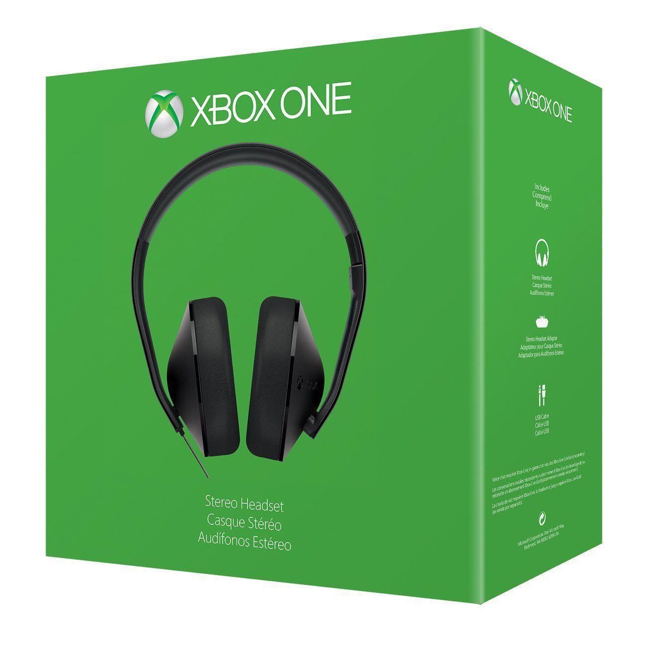 Headset Estéreo Xbox One + Adaptador de Headset