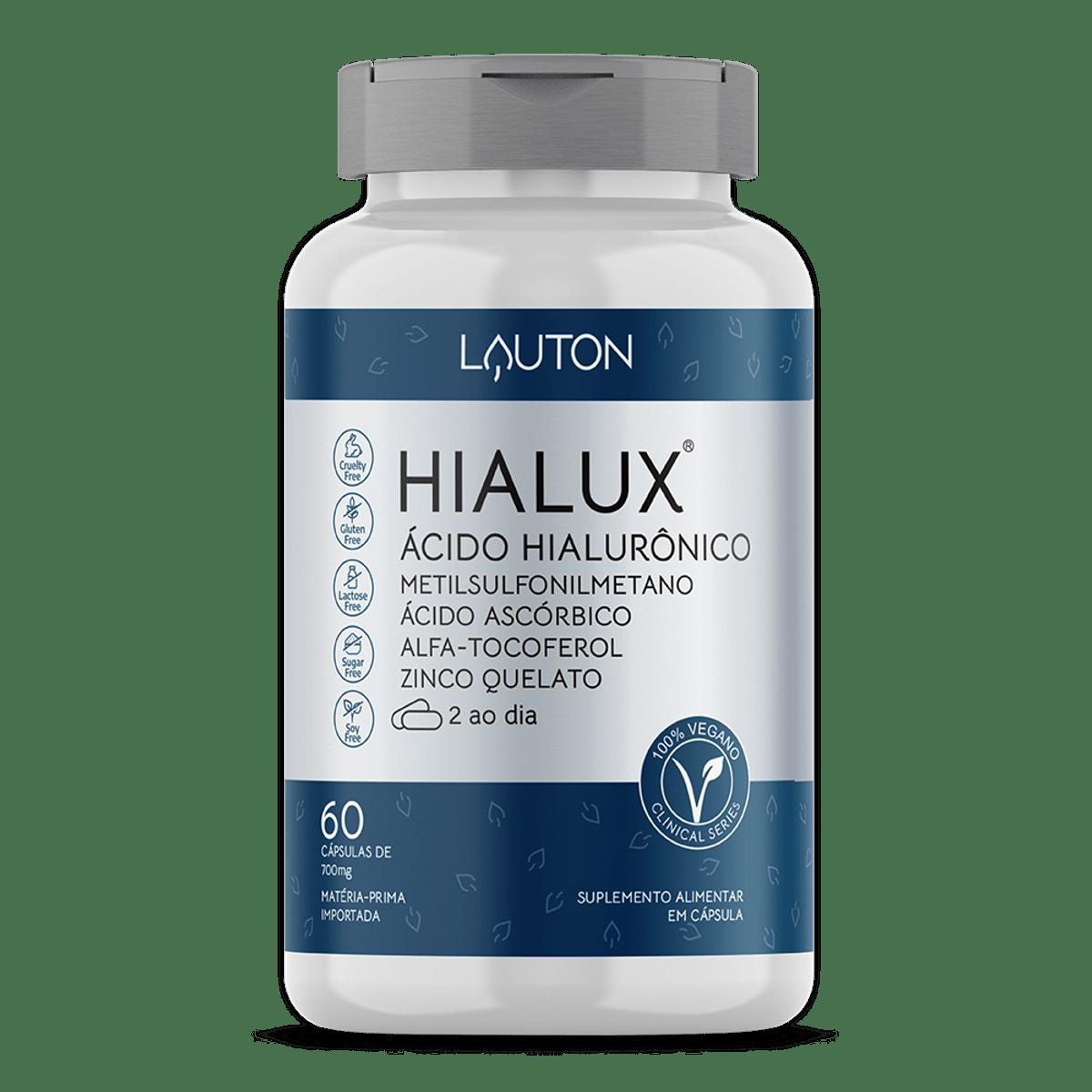 Hialux - Ácido Hialurônico - 60 Cápsulas - Lauton Nutrition