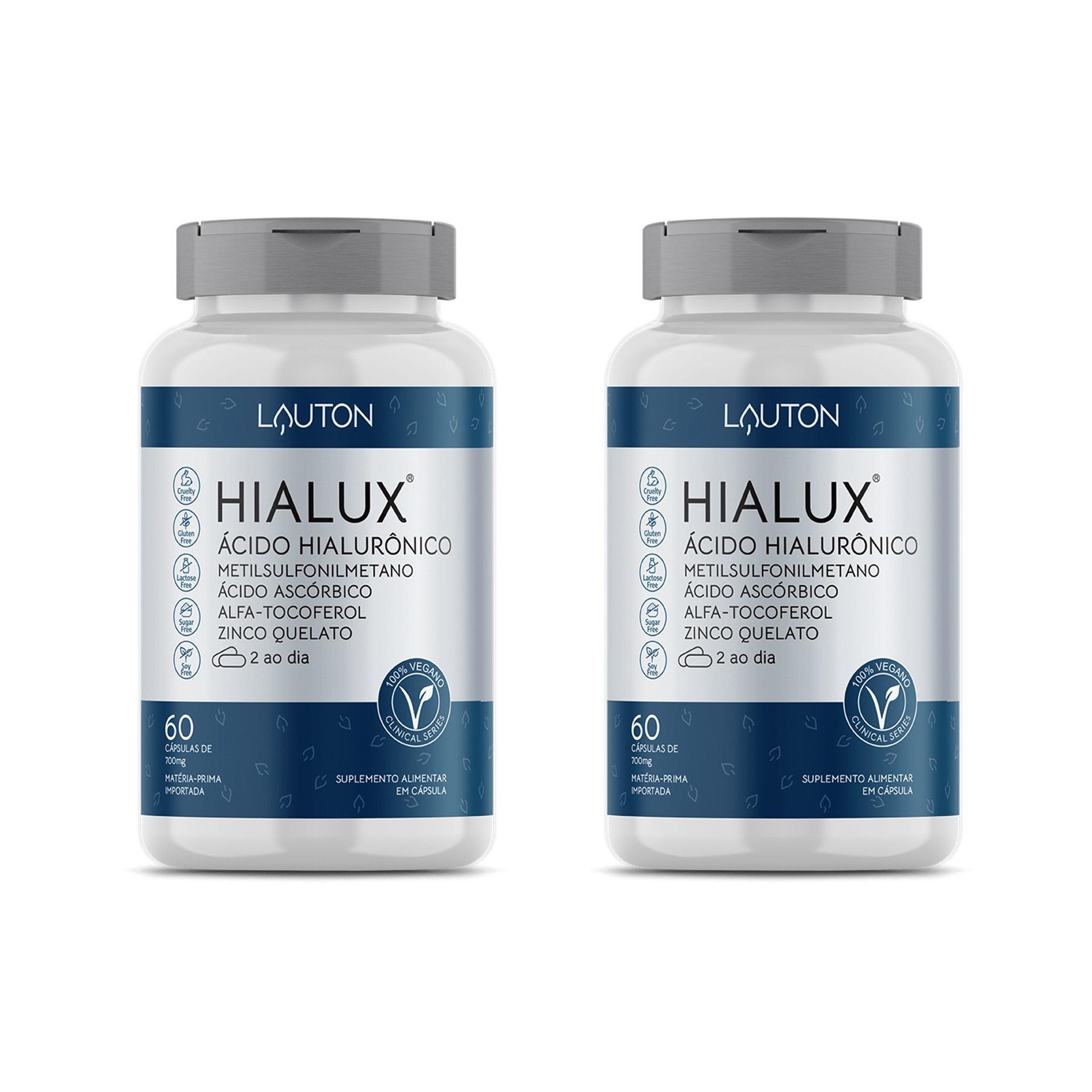 Hialux - Ácido Hialurônico - 60 Cápsulas - Lauton Nutrition (2 Unidades)