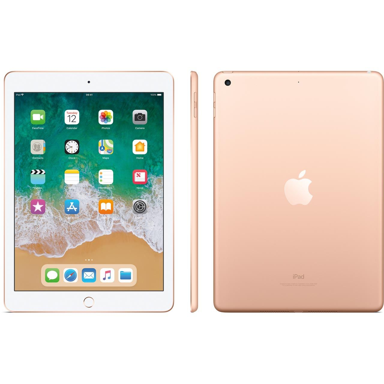 "iPad 6 Apple 128GB Dourado Tela 9.7"" Retina - Proc. Chip A10 Câm. 8MP + Frontal iOS 11 Touch ID"