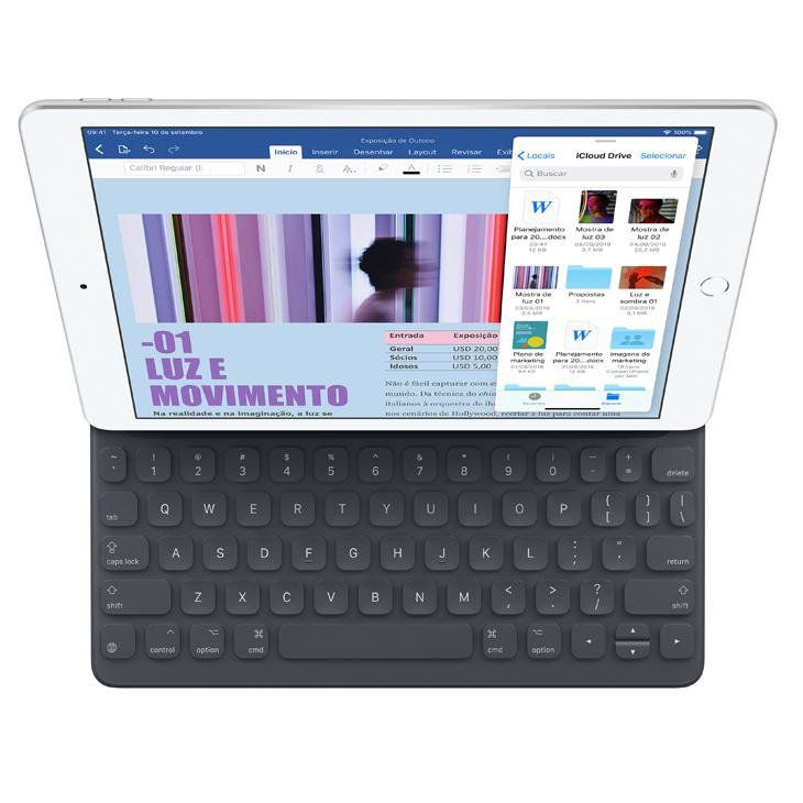 "iPad 7 Apple, Tela Retina 10.2"", 128GB, Wi-Fi - Dourado"