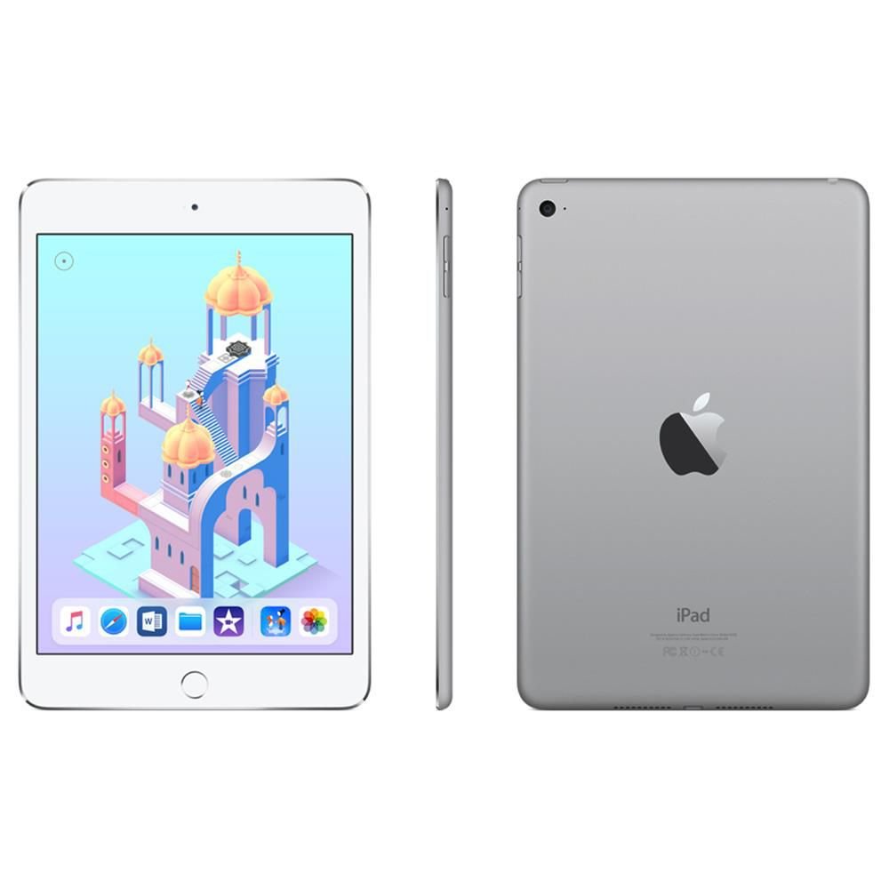 iPad Mini 4 Apple com 128GB, Wi-Fi, Tela 7,9'', Sensor Touch ID, Bluetooth, Câmera iSight 8MP, FaceTime HD e iOS 12 - Cinza Espacial