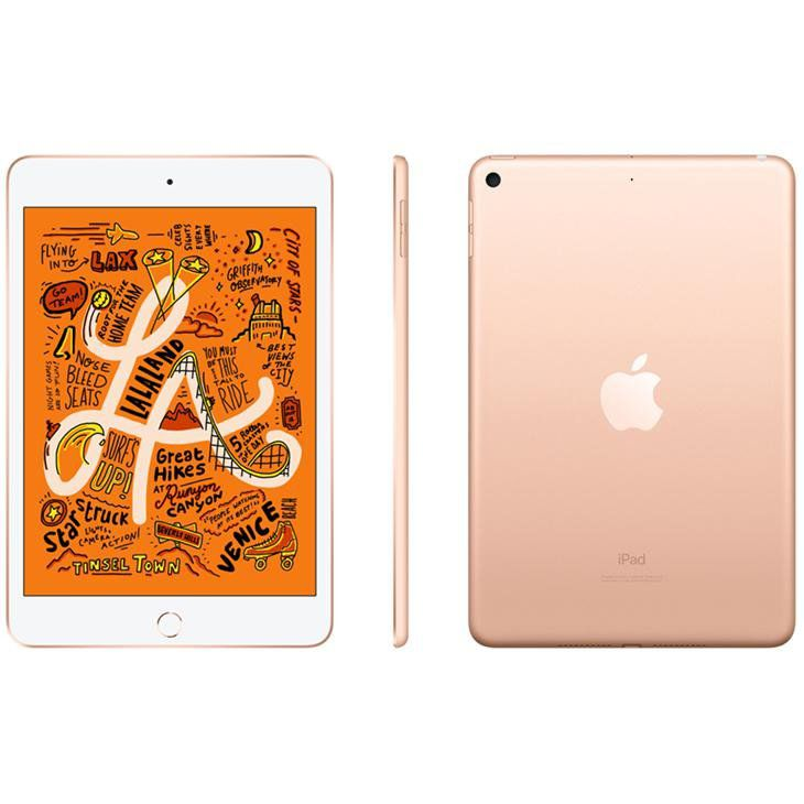iPad Mini 5 Apple com 256GB, Wi-Fi, Tela 7,9'', Sensor Touch ID, Bluetooth, Câmera iSight 8MP, FaceTime HD e iOS 12 - Dourado