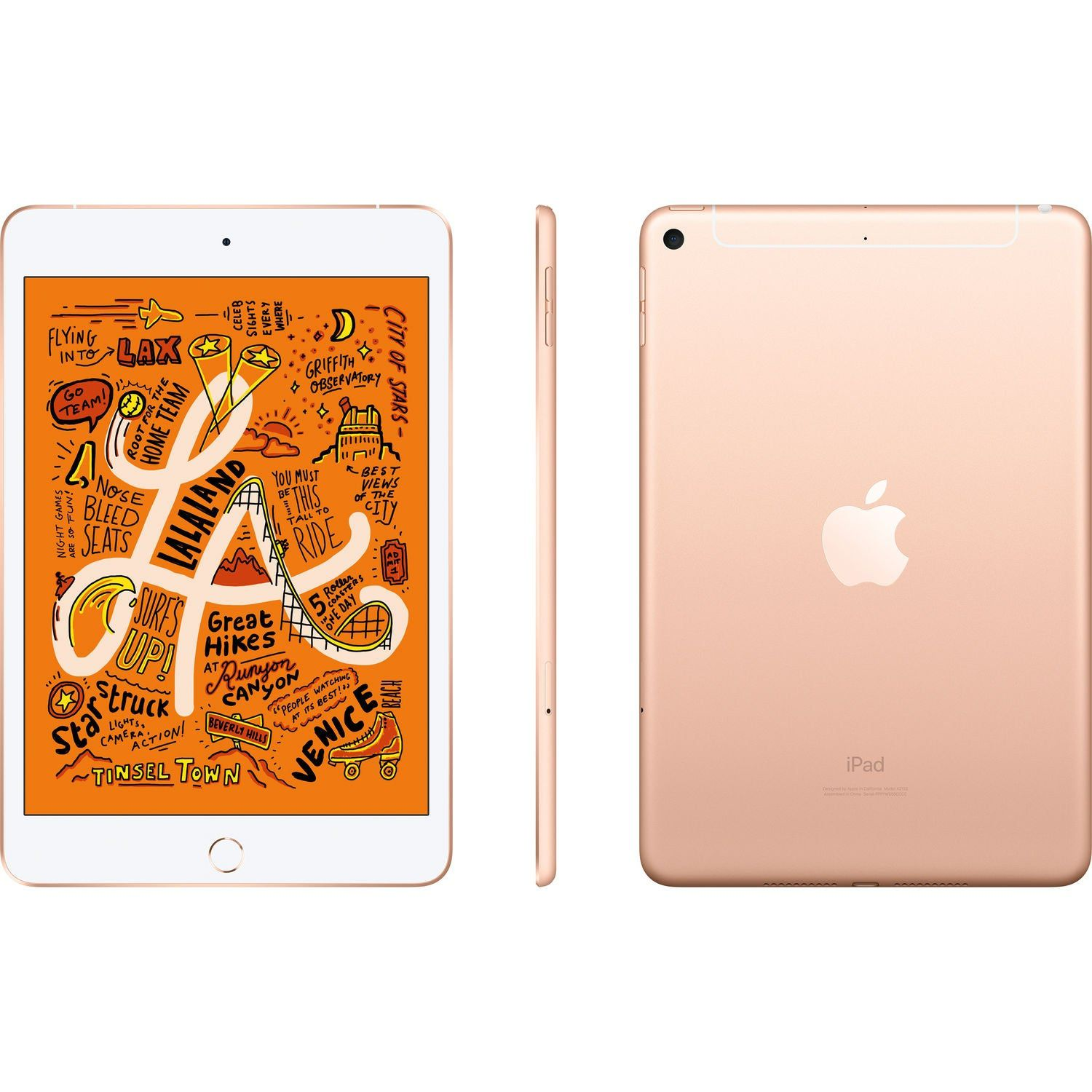 iPad Mini 5 Apple com 64GB, Wi-Fi, Tela 7,9'', Sensor Touch ID, Bluetooth, Câmera iSight 8MP, FaceTime HD e iOS 12 - Dourado
