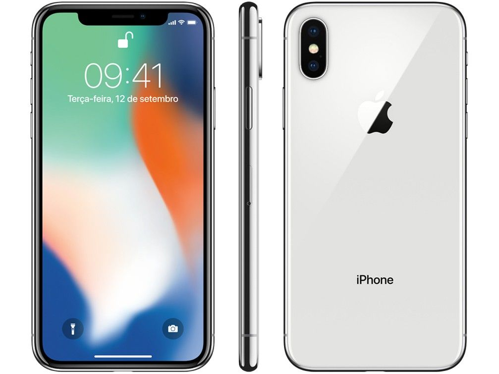 IPhone X Apple 64GB Prata
