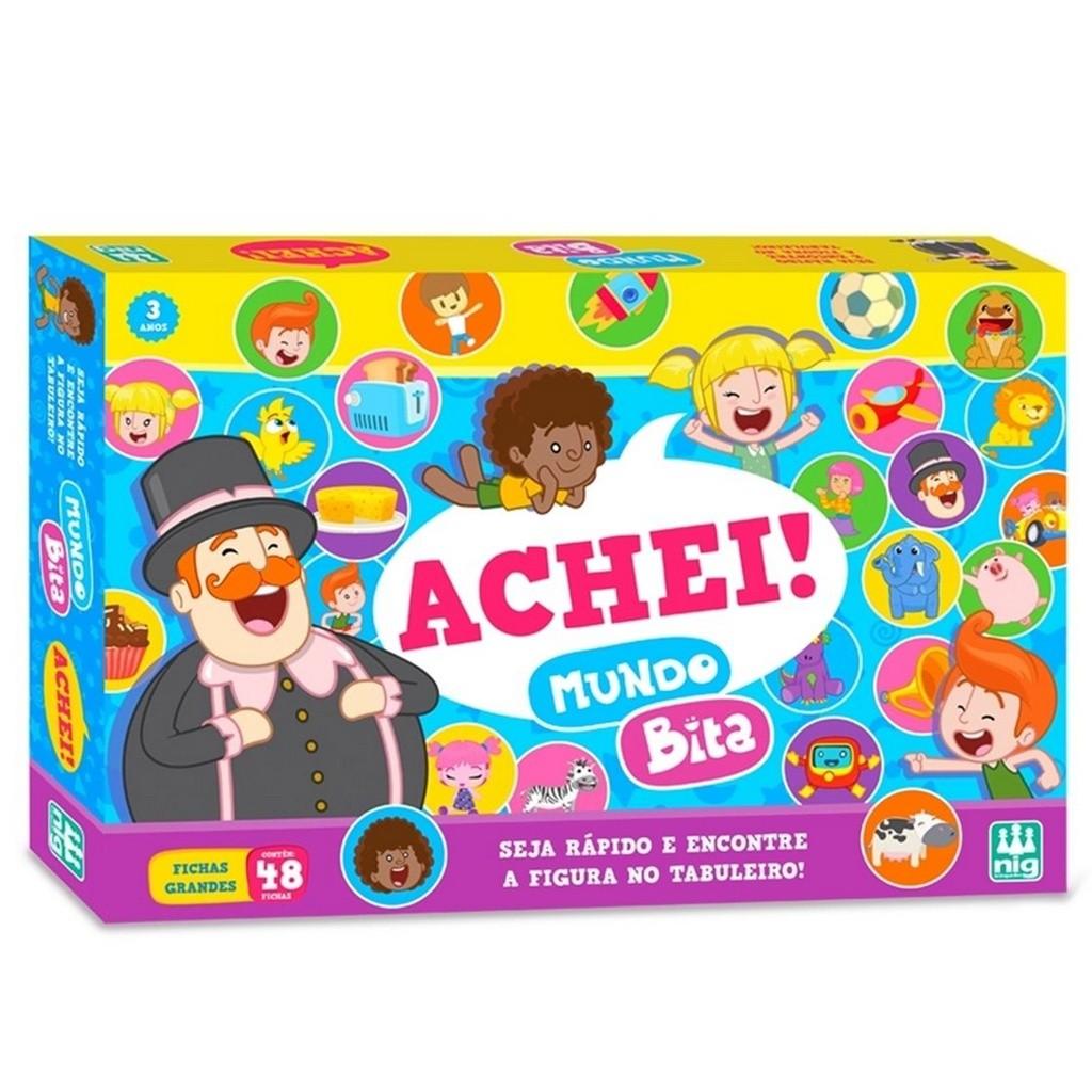 Jogo Achei Mundo Bita - Nig Brinquedos