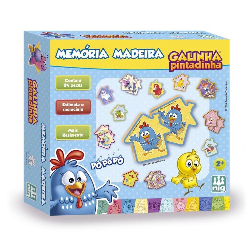 Jogo da Memória de Madeira - Galinha Pintadinha - Nig Brinquedos