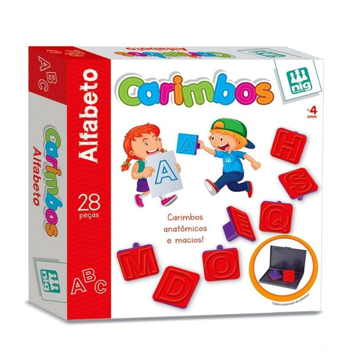 Jogo de Carimbos Pedagógico Alfabeto - Nig Brinquedos