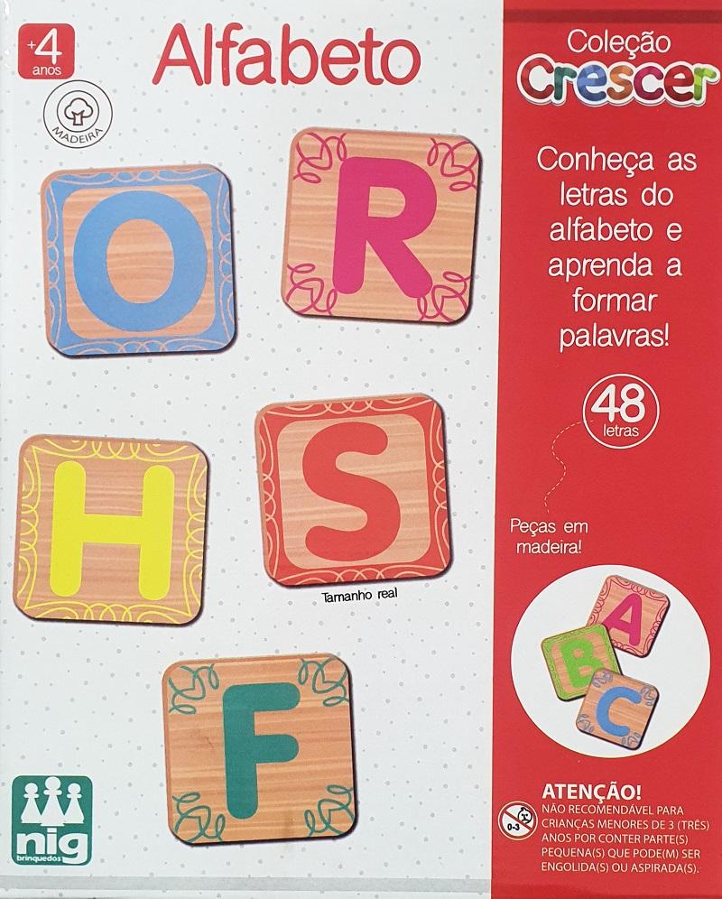 Jogo Educativo Crescer - Alfabeto - Nig Brinquedos