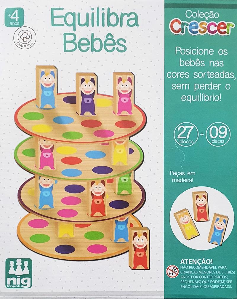 Jogo Educativo Crescer - Equilibra Bebês - Nig Brinquedos