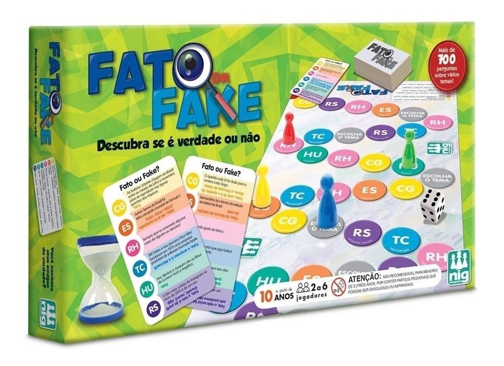 Jogo Fato ou Fake ? - Nig Brinquedos