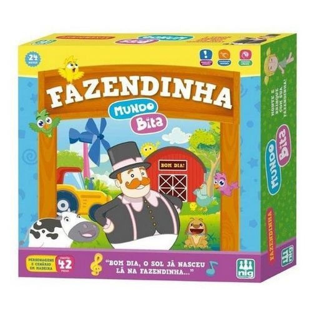 Jogo Fazendinha Mundo Bita em Madeira - Nig Brinquedos